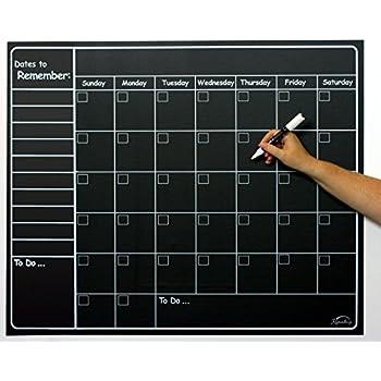 Amazon Com Large Chalkboard Wall Calendar Planner By