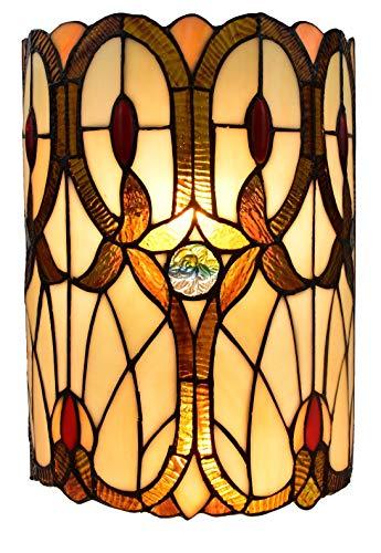 Amora Lighting AM340WL10 Tiffany Style Double-Light Geometric Wall Sconce, ()