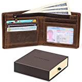 Jack&Chris Mens Wallet Genuine Leather Bifold Wallet Purse Gift Box Included,NM8056
