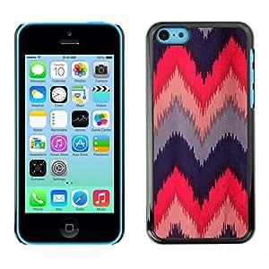 For Apple iPhone 5C Case , Quilted Crocheted Fabric Design - Diseño Patrón Teléfono Caso Cubierta Case Bumper Duro Protección Case Cover Funda