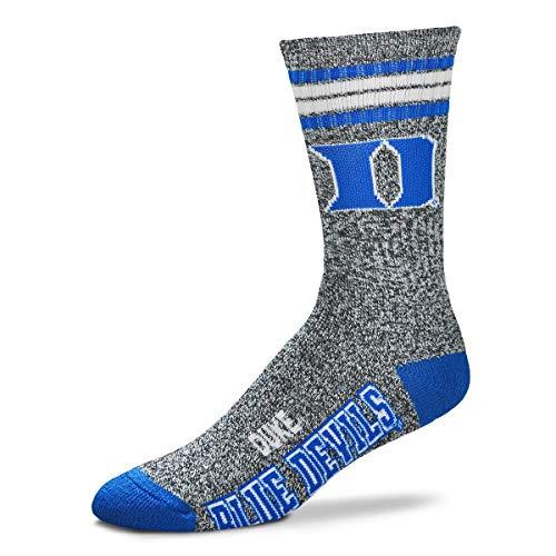 Duke Blue Devils Basketball Deuce Got Marbled? Gray Crew Socks - Large