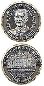 Ronald Reagan, 40th President of the United States, Double Sided Commemorative Challenge Coin (Eagle Crest 2390)