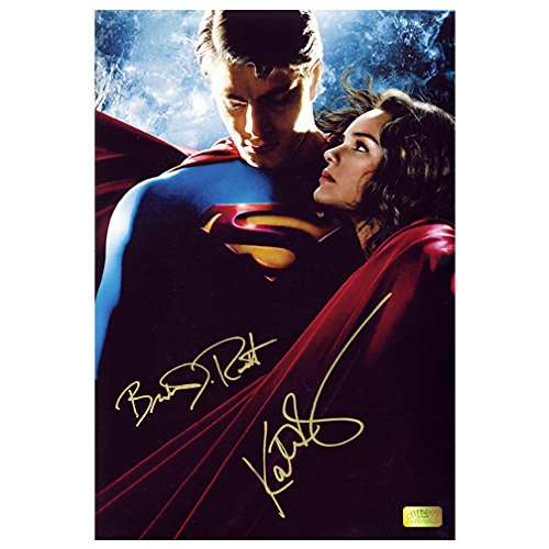 Brandon Routh and Kate Bosworth Autographed 8x12 Superman Returns Photo by Celebrity Authentics