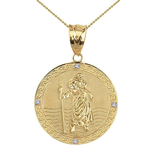 Solid 14k Yellow Gold Saint Ch