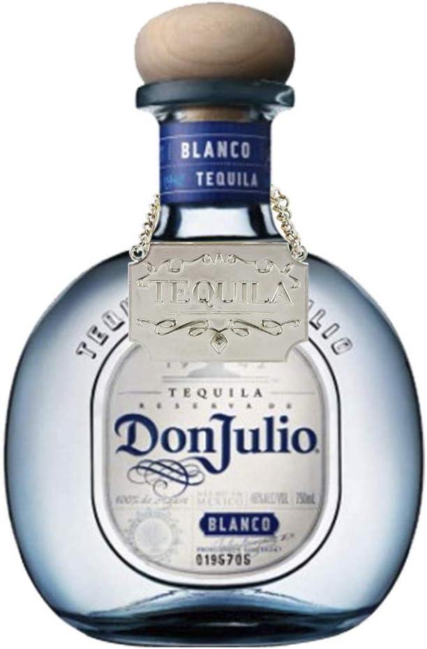 Silver Weinflaschen-Dekanter-Etikett Kettenverstellbare 8-teilige Luxus-Dekanter-Etiketten f/ür Whisky Bourbon Scotch Gin Rum Vodka Tequila und Brandy