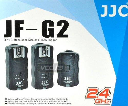JJC 2.4G Wireless Remote Control With 2 Flash Trigger Kit For Sony Nikon Canon Olympus Pentax by JJC