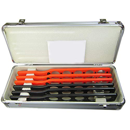 Optical Ophthalmic Retinoscopy Lens Rack Set Trial Lenses Plastic Bar With Aluminium Case Board Storage Container, Lenses 6 Bars 30 Lenses by Fencia (Image #2)