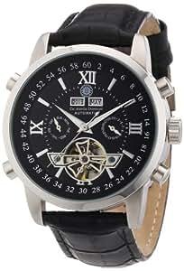 Constantin Durmont Calendar - Reloj analógico de caballero automático con correa de piel negra - sumergible a 30 metros