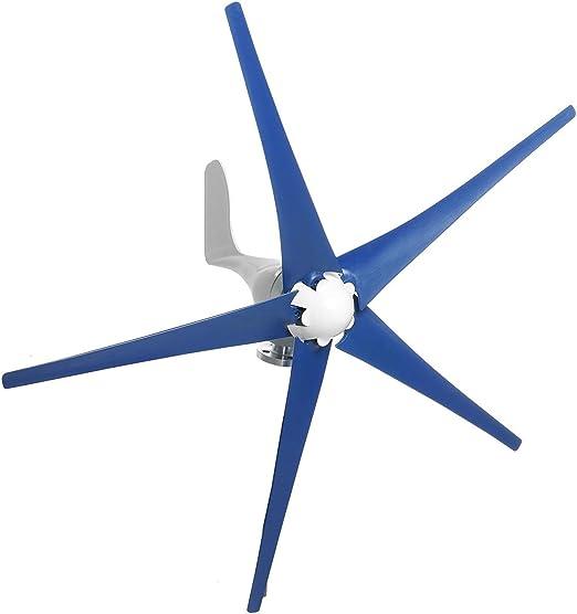 QWERTOUY 4200W turbinas de Viento generador 12V / 24V 5 láminas horizontales generador de Viento del Molino de Viento con el regulador de Carga de energía Turbinas: Amazon.es: Hogar