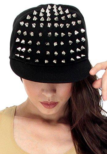 Studded Eyelet (Simplicity Men / Women's Punk Rock Spiked Studded Baseball Hat, Black)