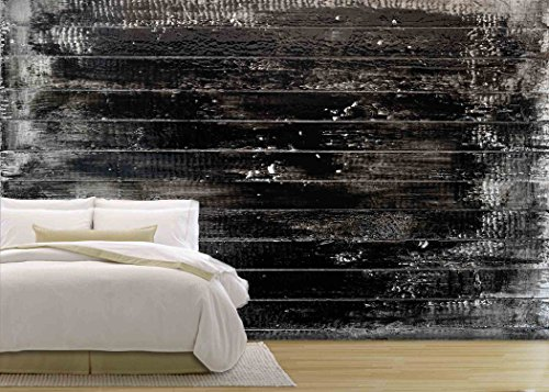 White Wooden Plank Painted Black