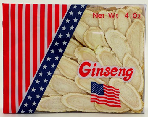 Green Bay Wisconsin American Ginseng Slices / Ginseng Slice / Sliced Ginseng Roots, 4 Oz Net Weight (Extra Large Size)