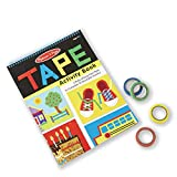 Melissa & Doug Tape Activity Book, Early Learning Skill Builder, 4 Rolls of Easy-Tear Tape, Sturdy Plastic Binding, 20 Pages, 10.9\
