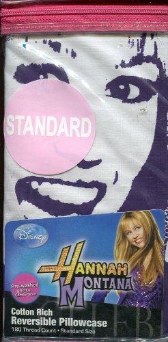 Disney Hannah Montana Pillow - Disney Hannah Montana Hannah Jams Standard Size Reversible Pillowcase