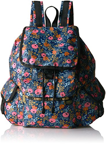 LeSportsac Women's Rifle Paper X Voyager Backpack, Rosa
