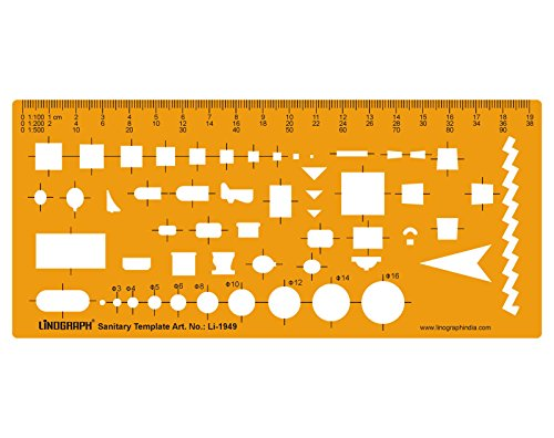 Architectural Sanitary Template Plumbing Fixtures Architect Drafting Templates Stencil