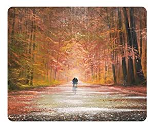 Brain114 High Quality Textured Surface Autumn Painting Couple Non-Slip Rubber Mousepad Durable Gaming Mouse Pads