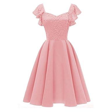 a0d3d131922080 Schöne Kleider MEIbax Abendkleider Damen Elegante Kleider Prinzessin  Spitzenkleid Vintage Blumenkleid Bodycon Kleid Festliche Kleider Cocktail