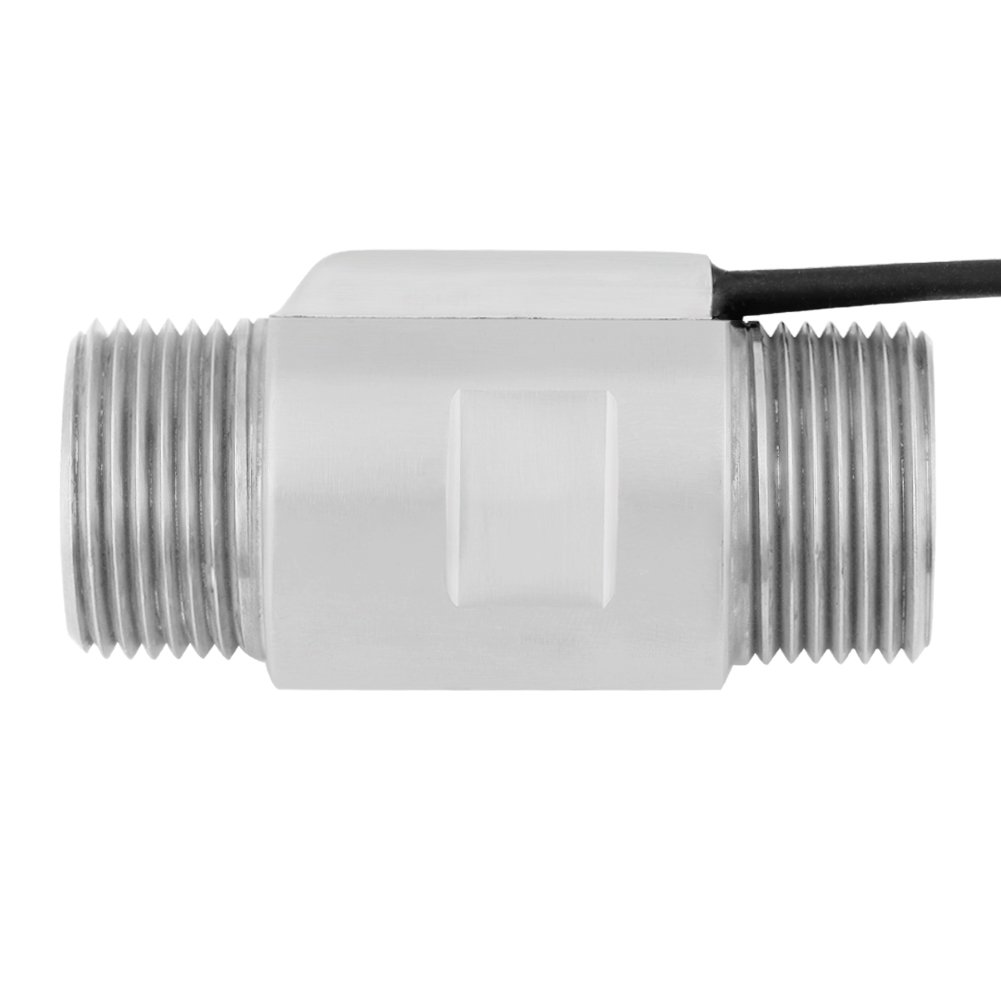 Sensor de Flujo de Líquido Magnético Interruptor de Sensor de Flujo de Agua Acero Inoxidable G3 / 4 (DN20): Amazon.es: Bricolaje y herramientas