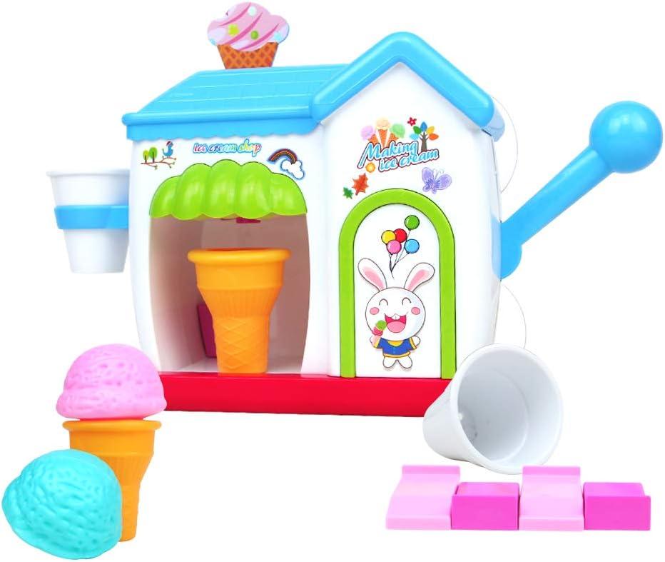 yoptote Juguetes Baño Bebe Pastico Burbujas Agua Juguete Helados Bebe Maquina Burbujas Juegos de Agua para Niño 18 Meses+
