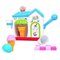 Symiu Baby Bath Toys Ice Cream Maker Bubble Machine Pretend Play Set Bathtub Toys Gift for Kids Boys Girls 2 3 4 5 Year Olds