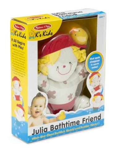 Melissa & Doug K's Kids Julia Bathtime Friend Bath Toy With Rubber Ducky