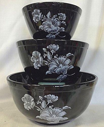 floral glass bowl set - 9