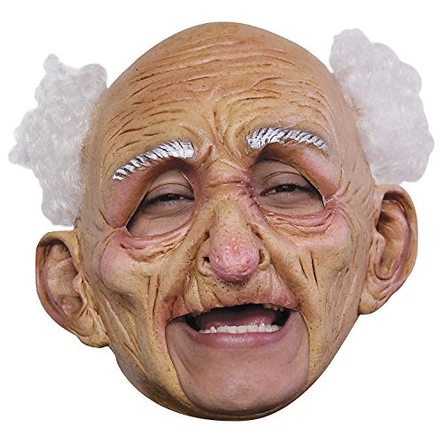 Fun Express - Oldman DLX Chinless Latex Mask for Halloween - Apparel Accessories - Costume Accessories - Masks - Halloween - 1 ()