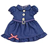 AOFUL Baby Doll Clothes Pretty Jeans Wear Dress Fits 16