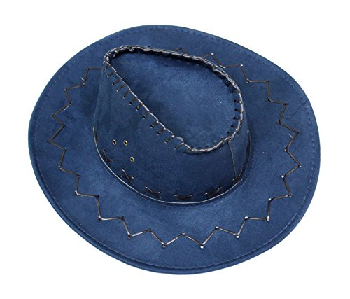 Navy Blue Western Cowboy Hat Unisex Costume for Children Adult Halloween Party (adult (Navy Blue Mens Costumes)