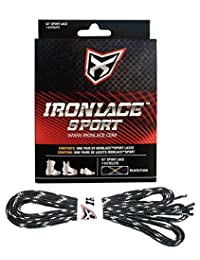 Ironlace Sport Laces-45-Inch-Black and Tan-72