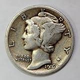 1916 D Mercury Dime Best Deals - 1916 P Silver Mercury Dime 10c Extremely Fine