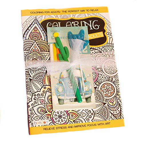 MMS Gifts Get Well Soon Gift for Women Includes Gardens Coloring Book, Mandalas, Crossword, Colored Pencils & Cactus Pen ()