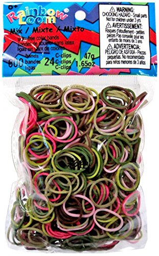 Official Rainbow Loom 600 Ct. Rubber Band Refill Pack PINK CAMOUFLAGE [Includes C-Clips!] Twistz Bandz