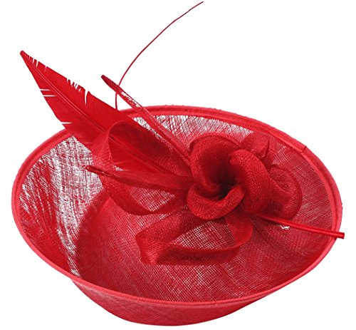 Pillbox Hat Sinamay Fascinator Wedding Headwear Church Party Cocktail Hat