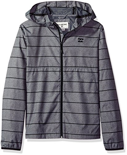 Billabong Boys' Big Transport Windbreaker, Dark Grey, S ()