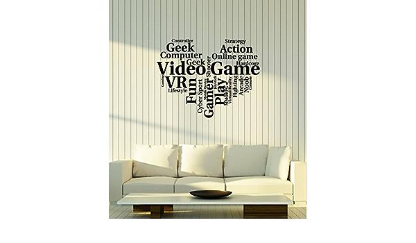 Vinyl Decal Game Words Cloud Gamer Since Geek Ever Unique Wall Decor caz4753