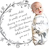 Baby Swaddle Blanket with Baby Quote – 100% Organic Cotton Muslin Swaddle Wrap with Angel Poem for Baby Shower, Christening Gift, Baptism Gift – Receiving Blanket, Privacy Throw