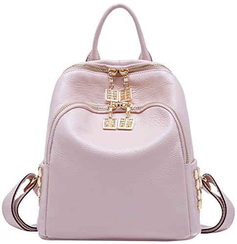 Black BOYATU Pink Genuine for Girls Bag Purses Mini Shoulder Women Travel Leather Backpack Light PPOWraq