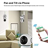 Wireless Security Camera Wifi Surveillance Indoor Video Camera with Motion Detection ELinkSmart IP Home Camera 720P Pan/Tilt for Baby /Elder/ Pet/Nanny Monitor, Pan/Tilt, Two-Way Audio & Night Vision