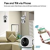 Wireless Security Camera Wifi Surveillance Indoor Video Camera with Motion Detection ELinkSmart IP Home Camera 720P Pan/Tiltfor Baby /Elder/ Pet/Nanny Monitor, Pan/Tilt, Two-Way Audio & Night Vision