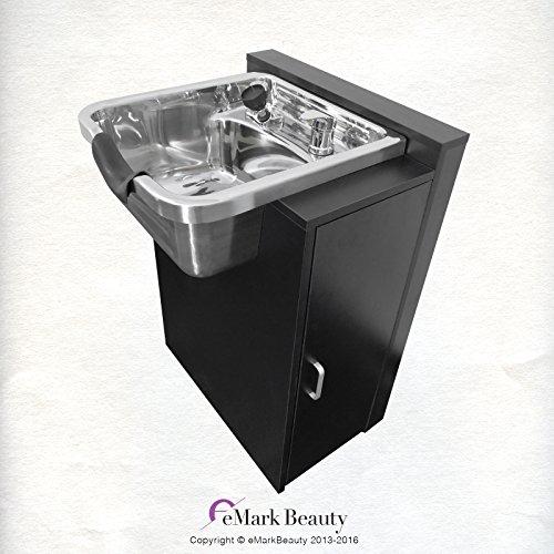 Polished Stainless Steel Shampoo Bowl Sink Spa Salon Equipment TLC-1168-KRGT-FC (Cabinet Sink Salon)