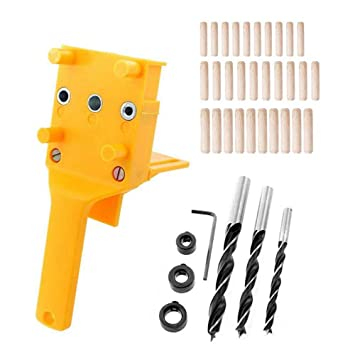 Handheld Dowel Jig Plastic Woodworking Jig Pocket Hole Jig Drilling Guide