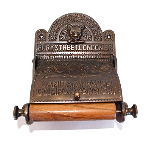 The Sanitary London Toilet Paper Holder Holder old English Style Replica ()