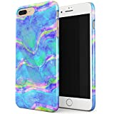 Glitbit Mermaid Paua Abalone Sea Shell Haliotis Iris Holographic Iridescent Mother Of Pearl Opal Cotton Candy Thin Design Durable Hard Shell Plastic Protective Case For Apple iPhone 7 Plus / 8 Plus