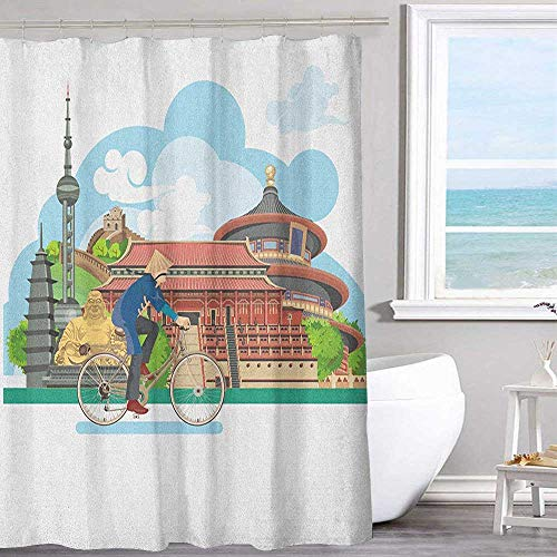 MKOK Polyester Shower Curtain 40
