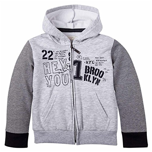OFFCORSS Big Boys Full Zip up Hoodie Kid Sweater Sudaderas Para Nios Gray 4