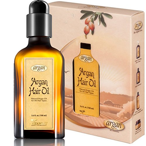 Vitamins Hair Oil Argan Treatment - Moroccan Serum with Advanced Exclusive Natural Herbal Complex - Nourishes, Protects & Promotes Shine Gloss