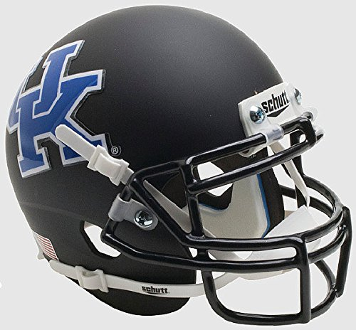 (Schutt Kentucky Wildcats Mini XP Authentic Helmet Matte Black - Licensed NCAA Merchandise)