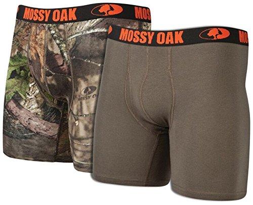 Mossy Oak Men's 6″ Cotton Boxer Brief (2 Pack)